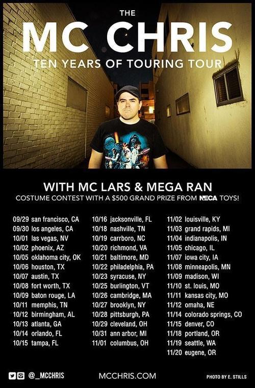 mc chris tour