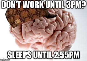 douchebag brain meme